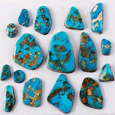 LOT 300cts  NATURAL Old BLUE GEM Turquoise Cabochon Cab Lander County Nevada A2