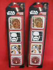 Disney 2 x New Packs of 4 Star Wars Erasers/Rubbers.
