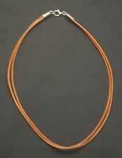 SILPADA - N1129 - Two-Strand Brown Leather & Sterling Silver Necklace - RET
