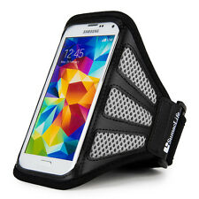 Gray/Black Mesh Sport Gym Armband for Samsung Galaxy SV S5 S4 S3/ HTC One 8XT SV