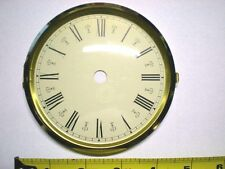 "CASE of 10 Hinged Brass Bezel & Glass Dial Size 4-1/2""  Ivory Dial / Roman #s"