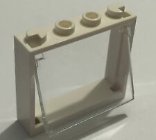 *NEW* LEGO WHITE Window 1x4x3 with CLEAR GLASS