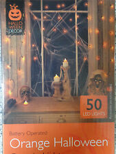 50 Spooky Halloween Orange Curtain Lights/ LED/Prop/Party/Window