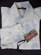 "NWOT ITALIAN GUIDE LONDON MANS  SHIRT SIZE L CH 40"" -42"" ITALIAN QUOTES GRAPHIX"