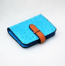 Women's Ostrich Leather Business/Credit Card Holder Case Wallet