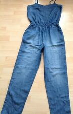 Bnwt��Next��Size 12 Long Blue Denim Tencel Jumpsuit Holiday Evening Day Wear New