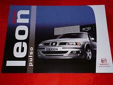 """SEAT Leon """"Pulso"""" Sondermodell Prospekt von 2004"""