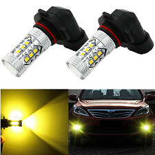 Alla Lighting 2x 3000K 9006 HB4 Gold Yellow 3030 SMD LED Fog Driving Light Bulbs