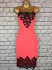 BNWT LIPSY UK 8 CORAL LACEY SLIP BODYCON DRESS RRP £65
