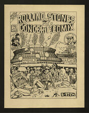 ROLLING STONES - RARE 1981 - NEW ORLEANS SUPERDOME PROMO ONLY CONCERT COMIC BOOK