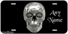Platinium Skull Aluminum Any Name Personalized Novelty Car License Plate P15