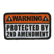 Protected by 2nd Amendment EMROIDERED IRON ON MC NRA  BIKER PATCH