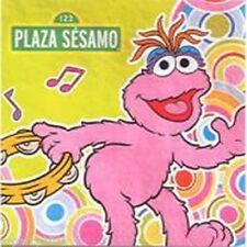 Sesame Street PLAZA SESAMO LUNCH NAPKINS (16) ~ Birthday Party Supplies Dinner