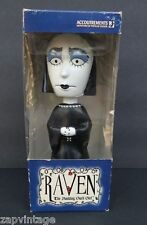 NEW Raven The Nodding Goth Girl Doll Figure Bobble Head Gothic Accoutrements