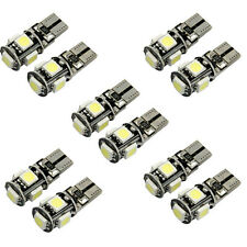 10x Canbus impecable blanco T10 5 SMD 5050 W5W 194 16 Interior LED Bombilla