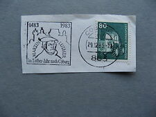 GERMANY BRD, fragment with slogan canc Martin Luther