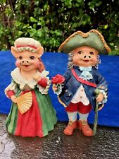 Antique Primitive ARTMARK Napoleon & Marie Antoinette Victorian PIGS Figurine