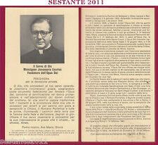 73 SANTINO HOLY CARD SERVO DI DIO JOSEMARIA ESCRIVA FONDATORE OPUS DEI