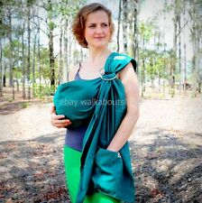 Walkabout Baby Ring Sling Carrier Pouch Newborn to Toddler 100% Cotton Green EM