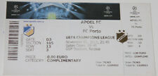 Ticket for collectors CL APOEL Nicosia - FC Porto 2011 Cyprus Portugal