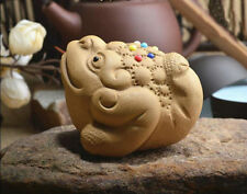 1pc Yixing Purple Sand Tea Pet Handmade Wealth Toad Tea Ceremony Decoration