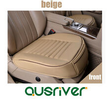 New Universal Breathable Leather Car Front Seat Cover One Single Piece Beige