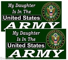 MY DAUGHTER IS IN THE ARMY HELMET BUMPER PACK OF 4 STICKER DECAL USA MADE
