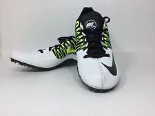 Men's Nike Zoom Celar 5 Spikes Track V 5 Sprint Running Shoes White Sz 15