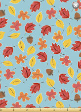 Susybee's Bruce, the Moose Falling Leaves 100% cotton fabric by the yard