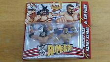 "WWE Wrestling Rumblers Mini Figure 2-Pack ""Macho Man"" Randy Savage & CM Punk UFC"