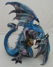 Nemesis Now PROTECTOR BLUE  DRAGON HOLDING A SKULL Figurine Dragons Statue