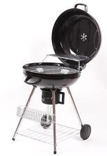 XXL Griglia rotonda BBQ Grill Barbecue a carbone rotelle Con Piede 57cm