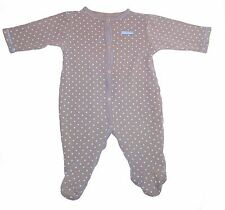CALVIN KLEIN size 6-9 months button up one piece thermal outfit - polka dots