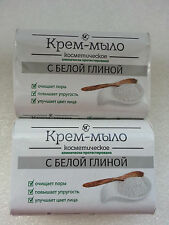 Cream soap with white clay Cosmetic 90g x 2 pcs