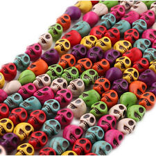 30 pcs Turquoise Skull beads Bracelet charms Spacer findings 10mm