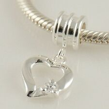 COEUR w CZ-amour-Saint Valentin-solide 925 sterling silver