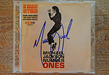 MICHAEL JACKSON.NUMBER ONES.Hand Signed Autographed CD Booklet