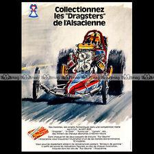 L'ALSACIENNE Biscuits DRAGSTER Jean-Pierre BOIVENT - 1975 Pub Publicité Ad #A267