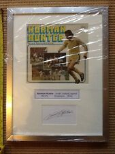 Norman Hunter Hand Signed Framed Photo Display with COA Leeds United England
