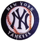 MLB New York Yankees Logo Baseball embroidered iron on patch. 2.85 inch (i16)