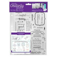 Birthday Verses A5 Clear Stamps Creativity Essentials by DoCrafts