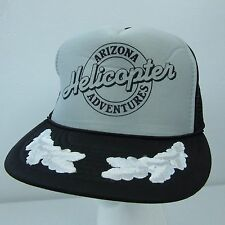 Vintage Arizona Helicopter Adventures Aviation Silverleaf Snapback Trucker Hat