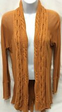 TINY Anthropologie Shawl Open Cardigan Split Back Tunic Cinnamon Size S