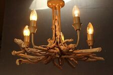 Driftwood Chandelier,five light Chandelier, Drift Wood 5 Light Pendant fitting