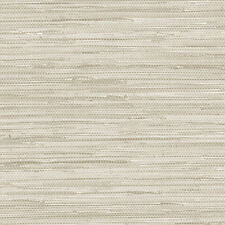 Beige and Grey Faux Grasscloth Wallpaper PA34210
