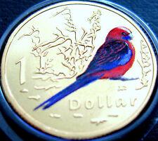 2011 Australia 1 $moneda de medio dólar WWF aire de la serie carmesí Rosella UNC Regalo Paquete