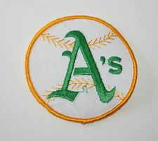 Vintage Oakland A's Athletics Baseball Team Cloth Patch 1970s New NOS