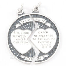 MIZPAH COIN Charm Pendant 925 Sterling Silver The LORD watch between me and thee
