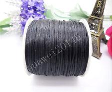 70Meter 1.5mm Chinese Knot Satin Nylon Braided Cord Macrame Beading Rattail Cord