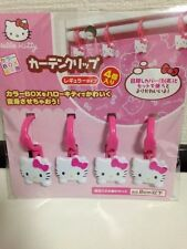 SANRIO Hello Kitty Curtain Clip Pink Entering 4clips  For Tension Rods DAISO